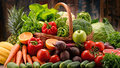 Assorted Raw Organic Vegetables Royalty Free Stock Photo - 87463875
