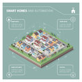 Residential Area Isometric Infographic Royalty Free Stock Photos - 87465138