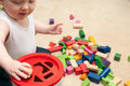Baby Playing With Blocks And Sorting Shapes Royalty Free Stock Photo - 87470405
