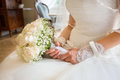 Bride Holding Bright Wedding Bouquet Royalty Free Stock Images - 87479539