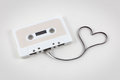 Audio Cassette Tape With Heart Royalty Free Stock Images - 87489239