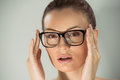 Woman In Glasses Stock Image - 87500421