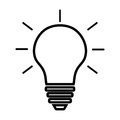 Light Bulb Line Icon Vector Isolated On White Background. Idea Sign, Solution, Thinking Concept. Lighting Electric Lamp. Stock Image - 87518601