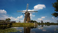 Windmill On The Shore Of The Lake Stock Photography - 87522022