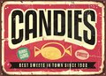 Candy Shop Retro Tin Sign Royalty Free Stock Images - 87526859