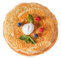 The Top View On Pancakes With Holes. Royalty Free Stock Image - 87543066