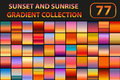 Sunset And Sunrise Gradient Set. Big Collection Abstract Backgrounds With Sky. Vector Illustration. Royalty Free Stock Photography - 87551877