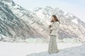 Girl On A Glacier And Snow In Alaska Stock Photography - 87556922