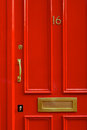 Detail Close-up Of A Bright Red Door In London England Royalty Free Stock Photos - 87560718