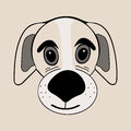 Puppy Cute Funny Cartoon Dog Head Stock Photos - 87572223