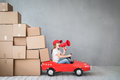 Child New Home Moving Day House Concept Royalty Free Stock Photography - 87578787