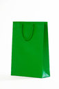 Green Paper Bag On A White Background Stock Photos - 87582883