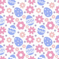 Eastern Seamless Pattern With Eggs And Flowers. Stock Image - 87597871