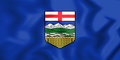 3D Flag Of Alberta, Canada. Royalty Free Stock Image - 87605566