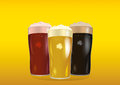 A Glass With Bright, Red And Dark Beer. Invitation To The St. Patrick Day Royalty Free Stock Photography - 87612727