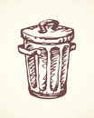 Recycle Bin. Vector Drawing Royalty Free Stock Photography - 87623237