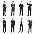 Set Of A Young Handsome Businessman Isolated On White. Business, Career, Job, Concept. Royalty Free Stock Photo - 87641555