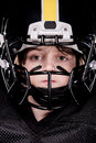 Boy American Football Player In Helmet Looking At Camera Royalty Free Stock Photos - 87659248