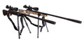 Air Rifles With Telescopic Sights With Bipod Royalty Free Stock Images - 87675259