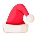 Santa Claus Winter Woolen Hat  On White. Stock Photography - 87681212