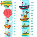 Air And Sea Transport Height Measure Royalty Free Stock Image - 87690846