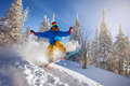 Snowboarder Jumping Stock Image - 87691301
