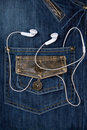 Blue Jeans And Headphones Royalty Free Stock Photos - 8771988