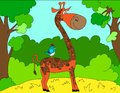 Colored Illustration Background Of A Giraffe Stock Image - 87700181