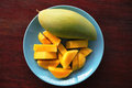 Mango In Dish Royalty Free Stock Photos - 87704648