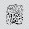God Loves You Royalty Free Stock Image - 87706826