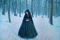 Mysterious Woman In Black Royalty Free Stock Photo - 87717615