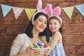 Family Celebrate Easter Royalty Free Stock Photo - 87740235
