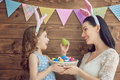 Family Celebrate Easter Stock Images - 87740394