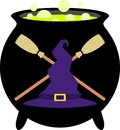 Witch Badge / Emblem Royalty Free Stock Images - 87766229