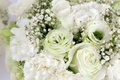Bouquet Floral Arrangement White Roses Carnation And Gypsophila Paniculata Royalty Free Stock Photos - 87770868