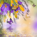 Spring Easter Card Stock Photography - 87777742