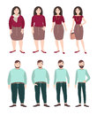 Fat And Slim People. Weight Loss Concept. Woman And Man Figure. Colorful Flat Illustration. Royalty Free Stock Photography - 87782747