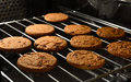 Chocolate Chip Cookies Baking In Home Oven. Royalty Free Stock Photos - 87791268