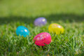 Easter Eggs In The Grass Stock Images - 87793074