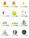 Set Of Colorful Company Logos Stock Images - 8785094