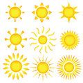 Sun Icons. Vector Illustration Royalty Free Stock Images - 8786209