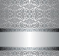 Silver Vintage Repetitive Wallpaper Design Stock Image - 87803211
