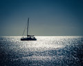 Silhouette Of A Sailboat Stock Image - 87803611