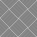 Vector Abstract Geometric Seamless Pattern. Weaving Textile Fabric With Black And White Crossed Straight Lines. Checked Royalty Free Stock Photos - 87810418