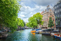 Canal In Amsterdam Royalty Free Stock Image - 87824716