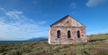Red Brick Fog Signal Building At The Piedras Blancas Lighthouse On The Central California Coast Royalty Free Stock Image - 87836346