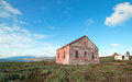 Red Brick Fog Signal Building At The Piedras Blancas Lighthouse On The Central California Coast Royalty Free Stock Photo - 87836515