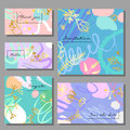 Set Of Artistic Colorful Universal Cards. Memphis Style. Stock Images - 87837784