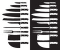 Butcher Knife Silhouette Sharp. Royalty Free Stock Photography - 87839297