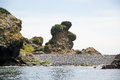 Bear Rock At The Punihuil Cove, Chiloe Island, Chile Stock Image - 87860161